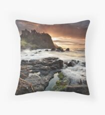Dunluce Castle - Co Antrim Throw Pillow
