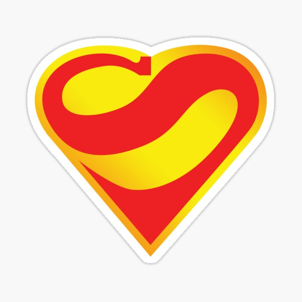 Super Heart Sticker
