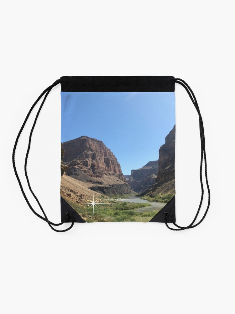 Alternate view of Grand Canyon Colorado River Scene - From ccnow.info Drawstring Bag