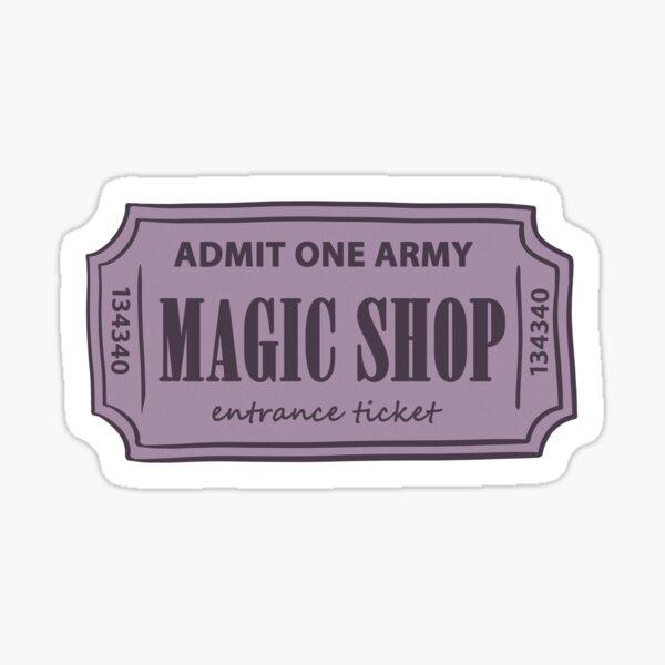 BTS MAGIC SHOP TICKET STICKER Sticker