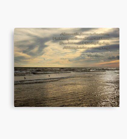 Trust Jesus Through the Storm Canvas Print
