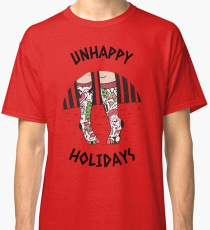 Unhappy Holiday Tee, Funny Stockings Tee, Funny Unhappy Holiday Stockings Tee Classic T-Shirt