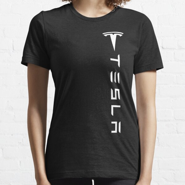Tesla vertical logo shirt Essential T-Shirt