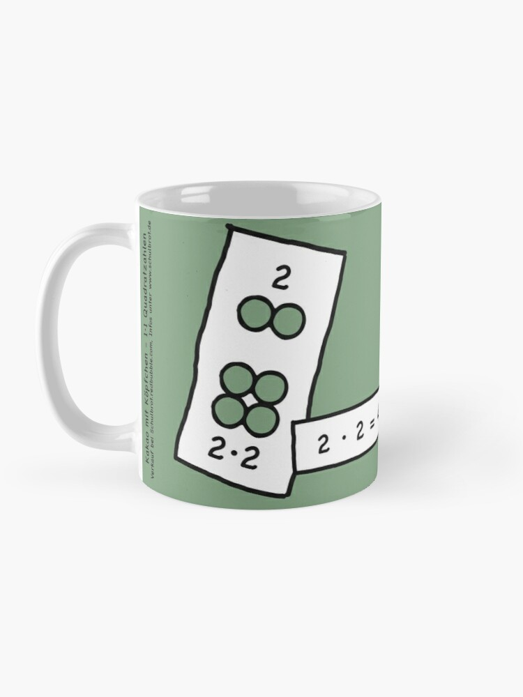 Alternate view of Cocoa with brains | 2x2 comprehend and keep with learning cups at breakfast | 1 Times Square Numbers | Vintage Mug