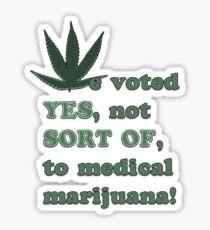 Medical Marijuana Tee Sticker