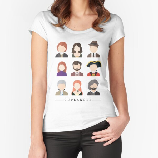 Outlander Characters Icons Illustration 2 T-shirt échancré