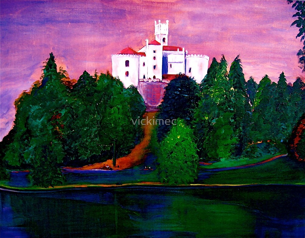 Castle on the lake by vickimec