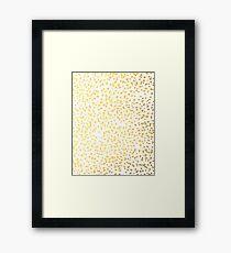 Gold Fleck modern art minimal trendy foil gold iphone cell phone case hipster  Framed Print