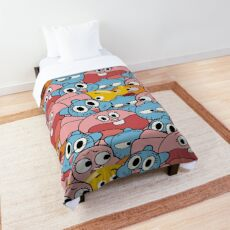 The Amazing World Of Gumball Wattersons Pattern Comforter
