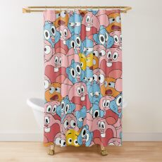The Amazing World Of Gumball Wattersons Pattern Shower Curtain