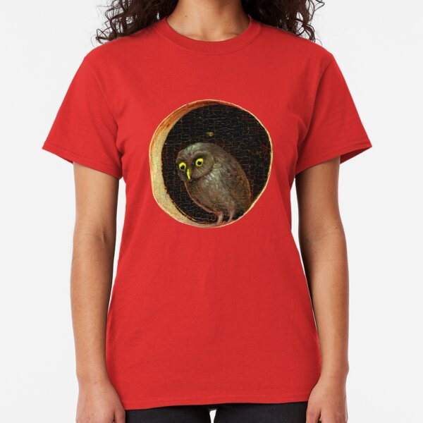 Curious Owl Hieronymus Bosch Garden of Earthly Delights Classic T-Shirt