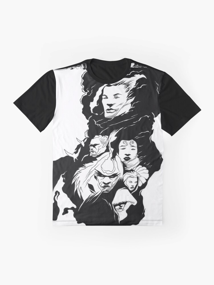 Alternate view of Of Angels and Faces In The Mist Graphic T-Shirt