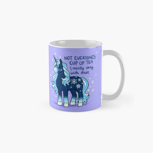 """Not Everyone's Cup of Tea"" Snowflake Unicorn Classic Mug"