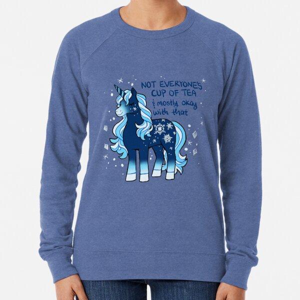 """Not Everyone's Cup of Tea"" Snowflake Unicorn Lightweight Sweatshirt"