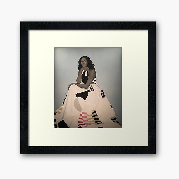 Unframed First Lady Michelle Obama Smithsonian's National Portrait Gallery Framed Art Print