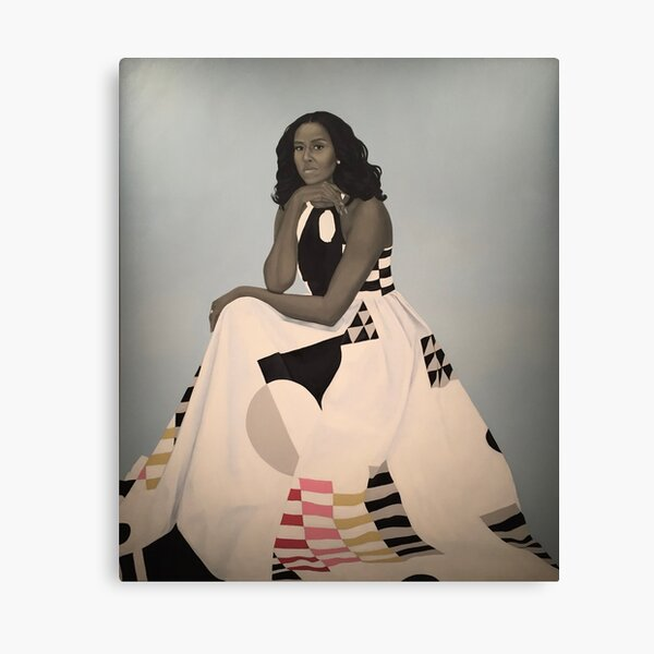 Unframed First Lady Michelle Obama Smithsonian's National Portrait Gallery Canvas Print