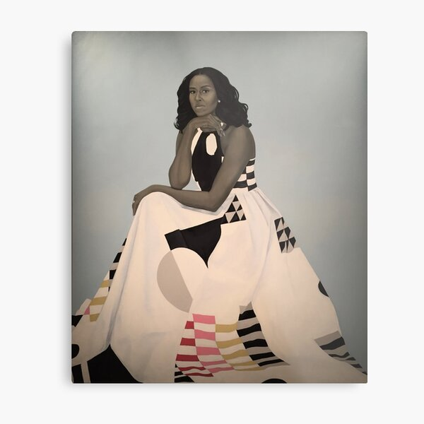 Unframed First Lady Michelle Obama Smithsonian's National Portrait Gallery Metal Print