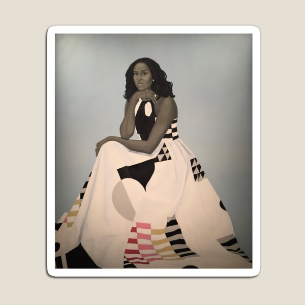 Unframed First Lady Michelle Obama Smithsonian's National Portrait Gallery Magnet