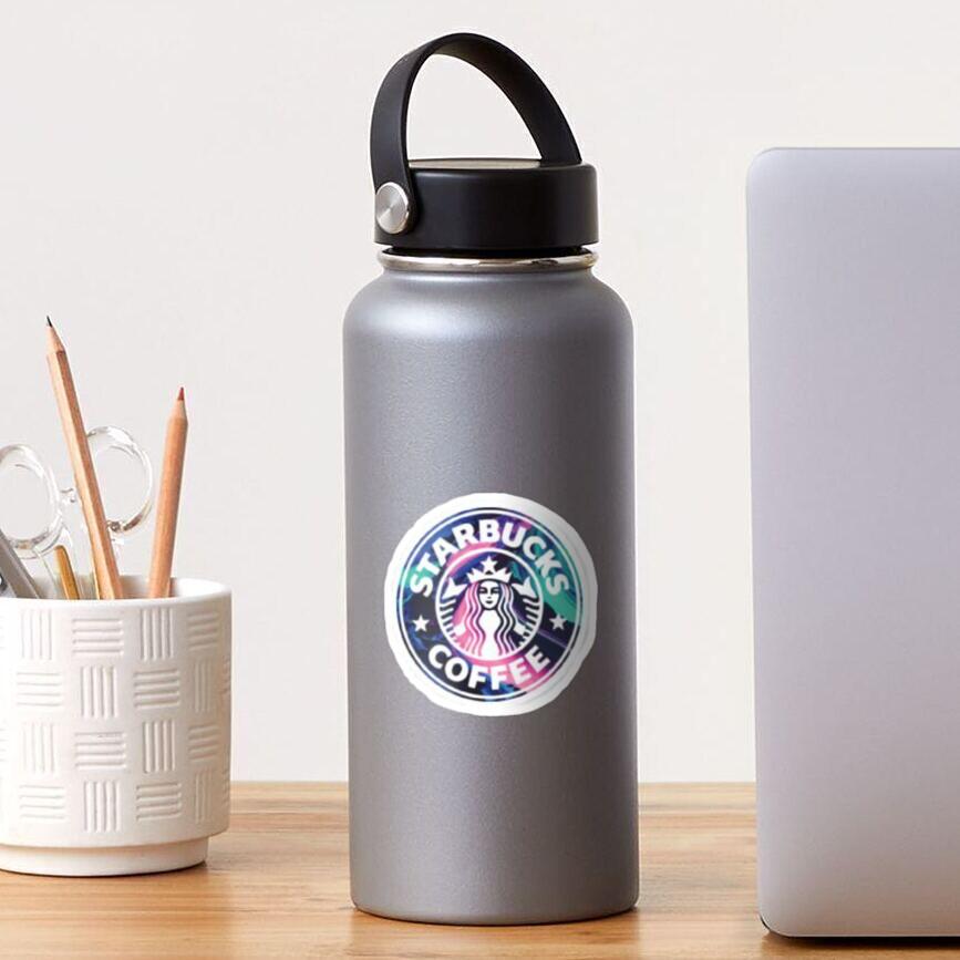 Rainbow Starbucks Logo Sticker