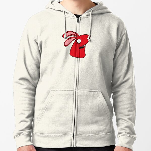 Doom Bunny Red Zipped Hoodie