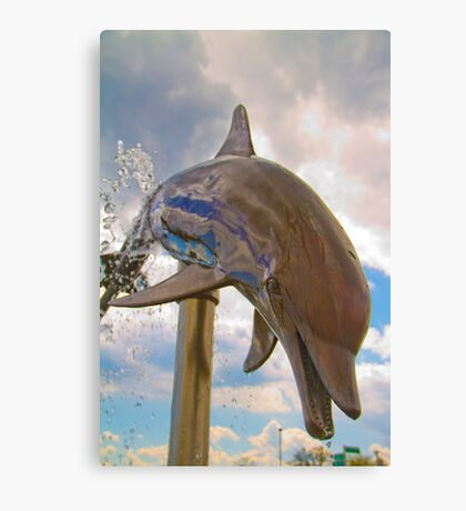 Dolphin Fountain Canvas Print