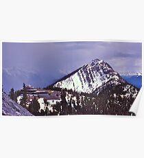 Snowstorm, Sulphur Mountain, Banff, Alberta, Canada. Poster