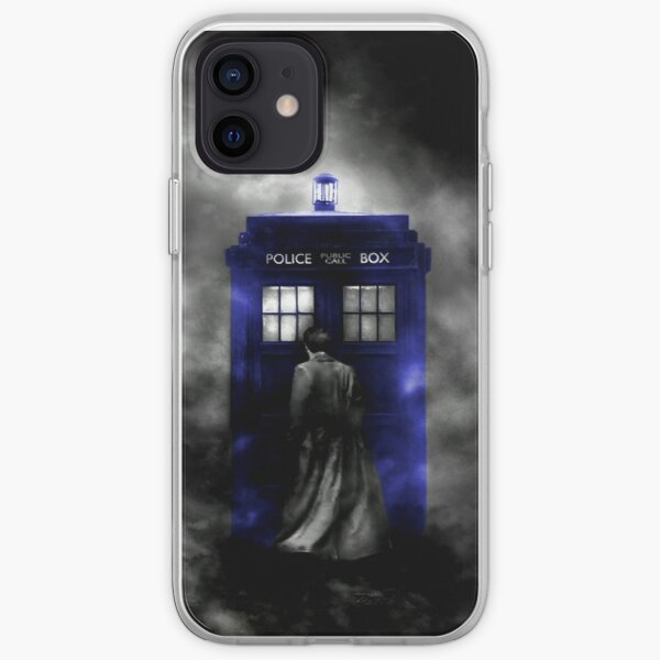 The Doctor and his blue box iPhone Soft Case