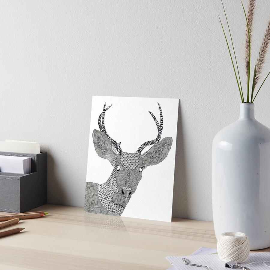 Watching Art Board Print