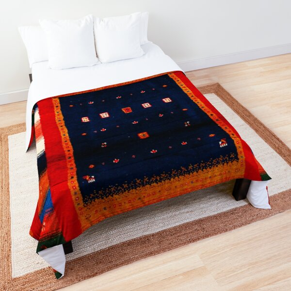 Colored Red Traditional Moroccan Artwork by ARTERESTING Comforter