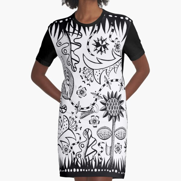 garden party Graphic T-Shirt Dress