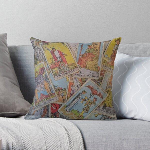 Tarot Time Throw Pillow