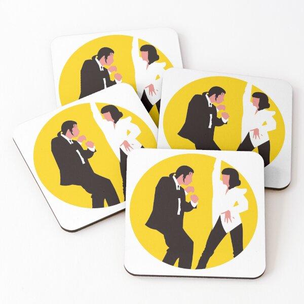Pulp Fiction - John Travolta and Quentin Tarantino Coasters (Set of 4)