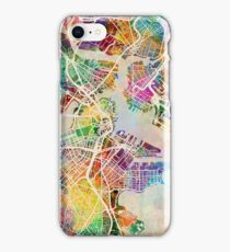 Boston Massachusetts Street Map iPhone Case/Skin