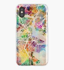 Boston Massachusetts Street Map iPhone Case/Skin