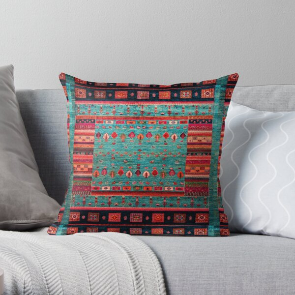 Epic Traditional Moroccan Calm Blue Artwork by ARTERESTING Throw Pillow