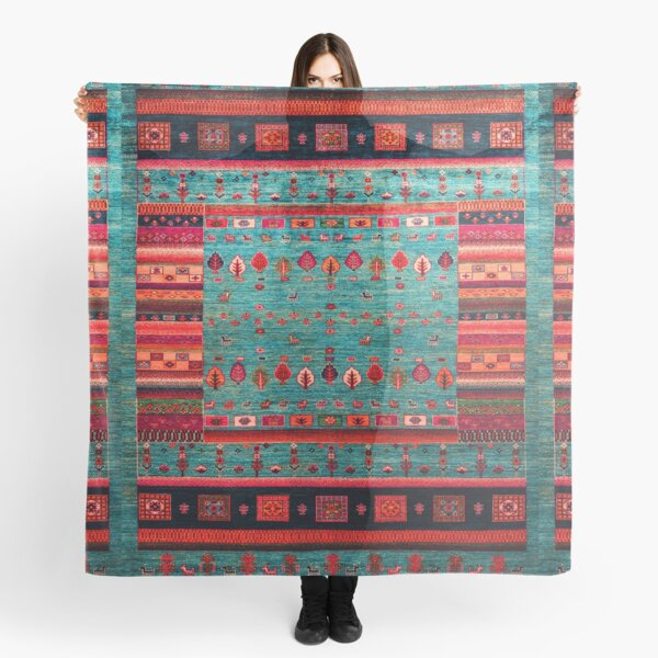 Epic Traditional Moroccan Calm Blue Artwork by ARTERESTING Scarf