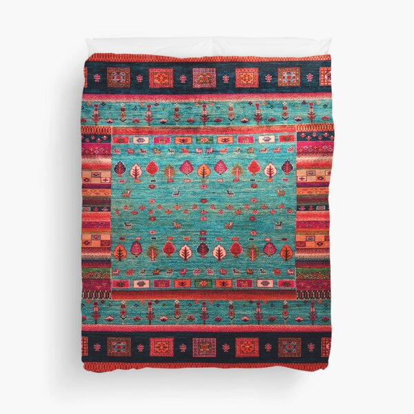 Epic Traditional Moroccan Calm Blue Artwork by ARTERESTING Duvet Cover