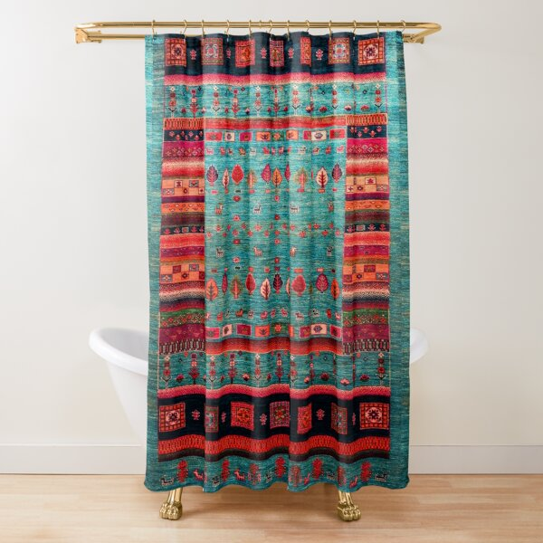 Epic Traditional Moroccan Calm Blue Artwork by ARTERESTING Shower Curtain