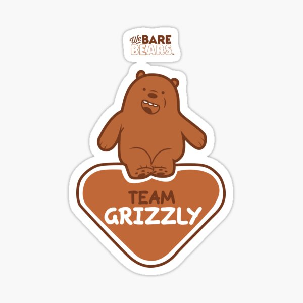 WE BARE BEARS™: TEAM GRIZZLY Pegatina