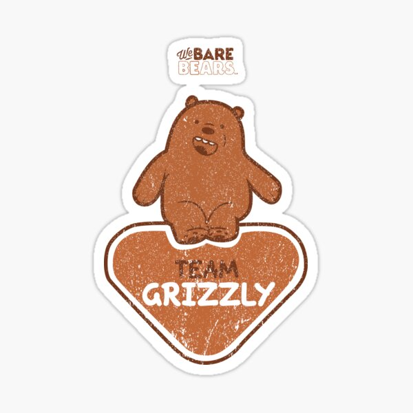 WE BARE BEARS™: TEAM GRIZZLY (GRUNGE STYLE) Pegatina
