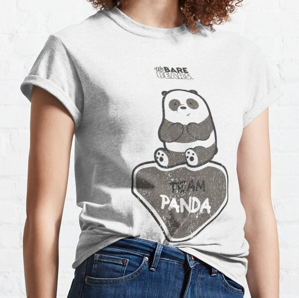 WE BARE BEARS™: TEAM PANDA (GRUNGE STYLE) Camiseta clásica