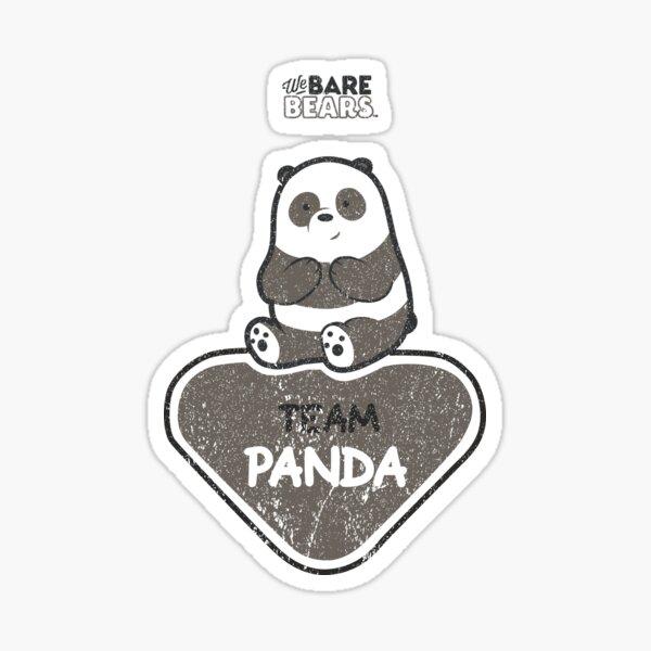 WE BARE BEARS™: TEAM PANDA (GRUNGE STYLE) Pegatina