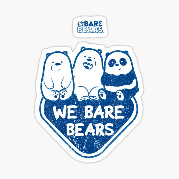 WE BARE BEARS™ (GRUNGE STYLE) Pegatina