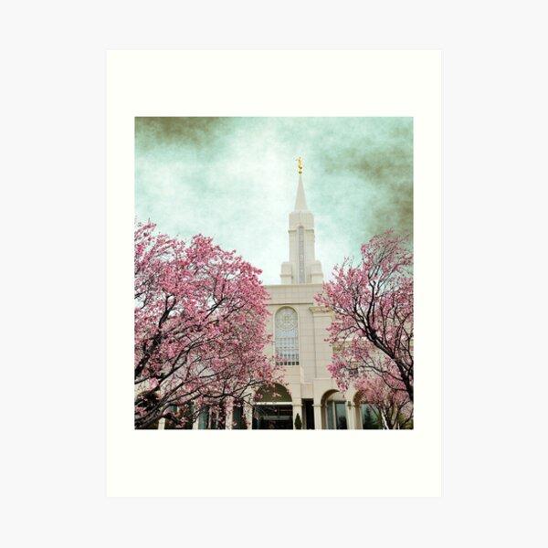 Bountiful LDS Temple - Spring Art Print