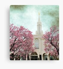 Bountiful LDS Temple - Spring Canvas Print
