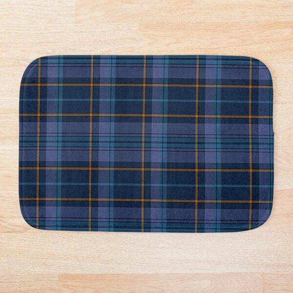 Navy Blue, Lavender & Gold Plaid Bath Mat