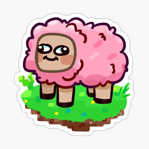 Minecraft Pink sheep Sticker