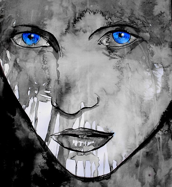 blue eyes by Loui  Jover