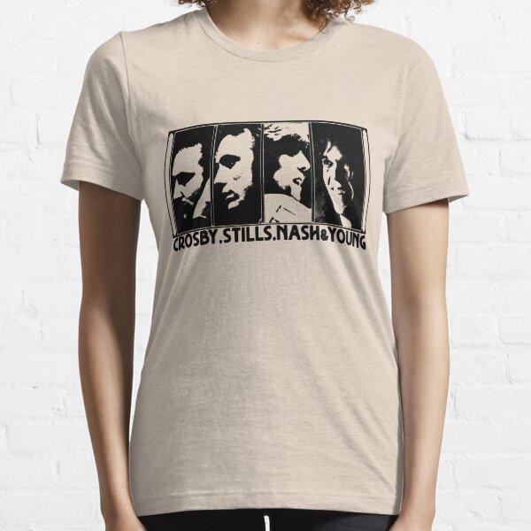 CSNY - The Black Stencil Essential T-Shirt