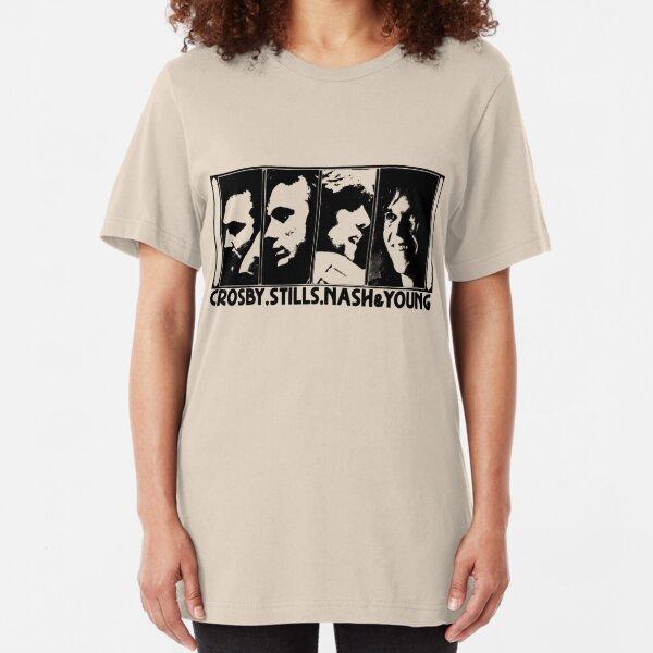 CSNY - The Black Stencil Slim Fit T-Shirt